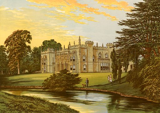 Arbury Hall. Illustration for Pictureque Views of Seats by FO Morris (William Mackenzie, c 1880).
