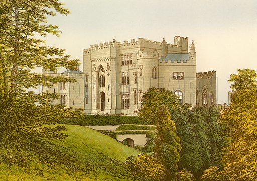 Birr Castle. Illustration for Pictureque Views of Seats by FO Morris (William Mackenzie, c 1880).