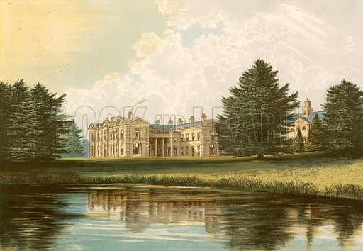 Compton Verney. Illustration for Pictureque Views of Seats by F O Morris (William Mackenzie, c 1880).