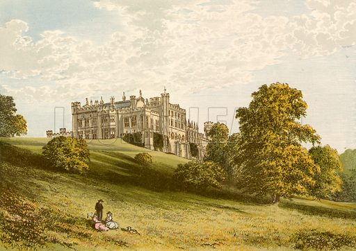 Lambton Castle. Illustration for Pictureque Views of Seats by F O Morris (William Mackenzie, c 1880).