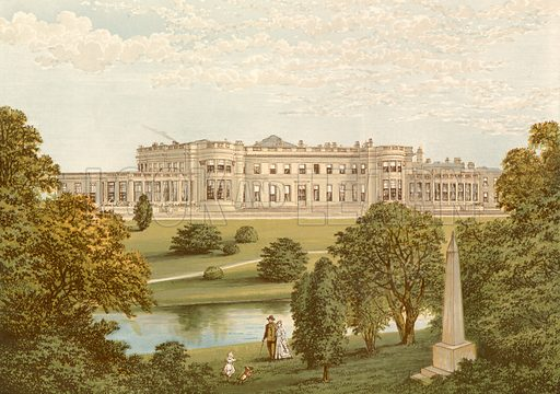 Wynyard Park. Illustration for Pictureque Views of Seats by F O Morris (William Mackenzie, c 1880).