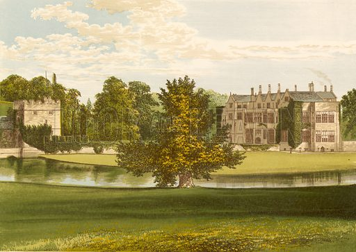 Broughton Castle. Illustration for Pictureque Views of Seats by FO Morris (William Mackenzie, c 1880).