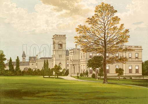 Stowlangtoft Hall. Illustration for Pictureque Views of Seats by F O Morris (William Mackenzie, c 1880).