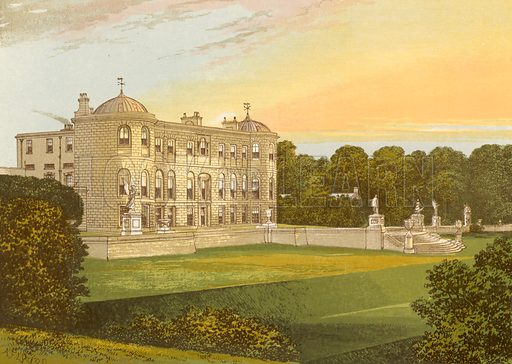 Powerscourt. Illustration for Pictureque Views of Seats by FO Morris (William Mackenzie, c 1880).