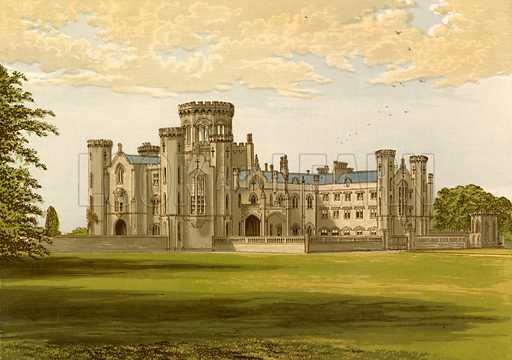Studley Castle. Illustration for Pictureque Views of Seats by F O Morris (William Mackenzie, c 1880).
