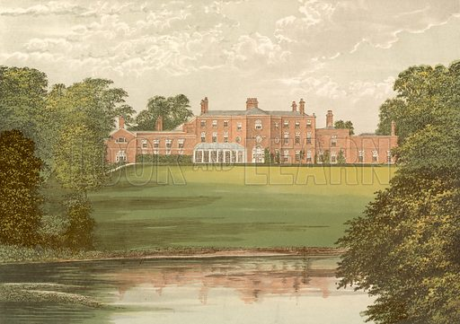 Lawton Hall. Illustration for Pictureque Views of Seats by FO Morris (William Mackenzie, c 1880).