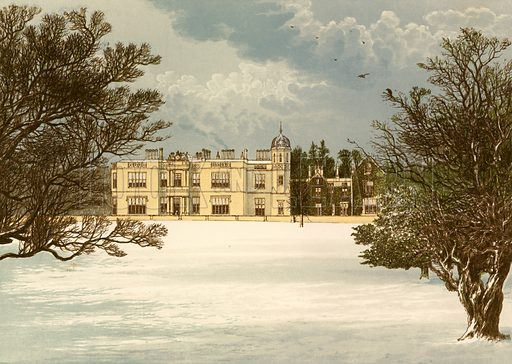 Eshton Hall. Illustration for Pictureque Views of Seats by FO Morris (William Mackenzie, c 1880).