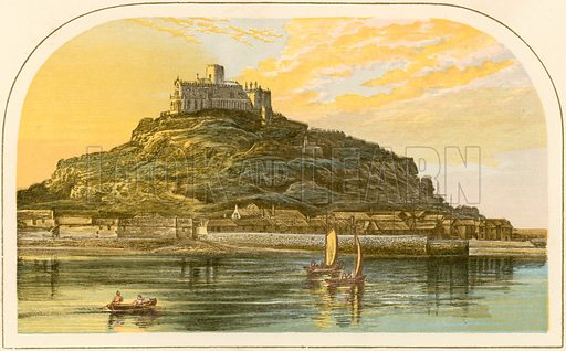 St Michael's Mount. Illustration for Pictureque Views of Seats by FO Morris (William Mackenzie, c 1880).