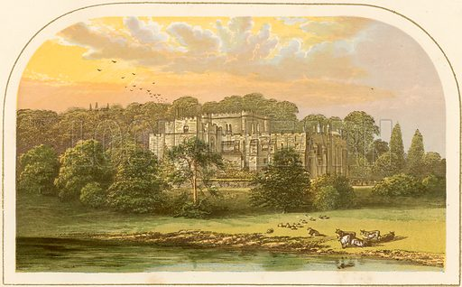 Berkeley Castle. Illustration for Pictureque Views of Seats by FO Morris (William Mackenzie, c 1880).