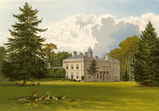 Brockley Hall. Illustration for Pictureque Views of Seats by F O Morris (William Mackenzie, c 1880).