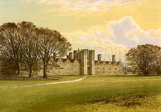 Knole. Illustration for Pictureque Views of Seats by FO Morris (William Mackenzie, c 1880).