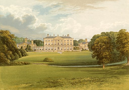 Howick Hall. Illustration for Pictureque Views of Seats by FO Morris (William Mackenzie, c 1880).