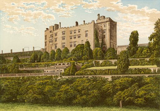 Powis Castle. Illustration for Pictureque Views of Seats by FO Morris (William Mackenzie, c 1880).