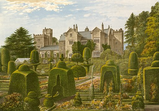 Levens Hall. Illustration for Pictureque Views of Seats by F O Morris (William Mackenzie, c 1880).