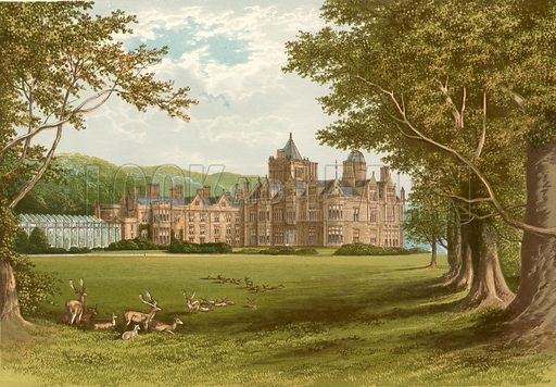 Holker Hall. Illustration for Pictureque Views of Seats by FO Morris (William Mackenzie, c 1880).