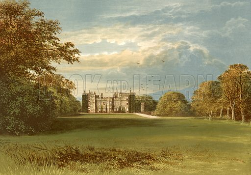 Chillingham Castle. Illustration for Pictureque Views of Seats by FO Morris (William Mackenzie, c 1880).