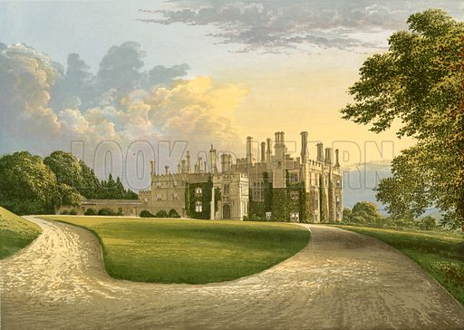 Eggesford House. Illustration for Pictureque Views of Seats by FO Morris (William Mackenzie, c 1880).