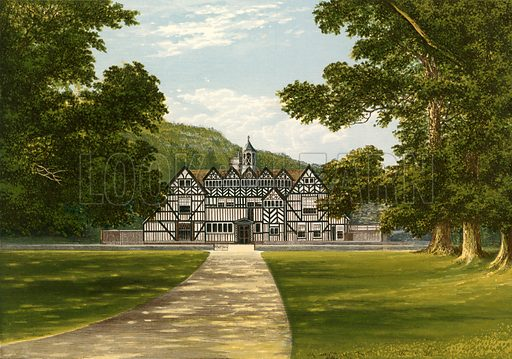 Meer Hall. Illustration for Pictureque Views of Seats by FO Morris (William Mackenzie, c 1880).