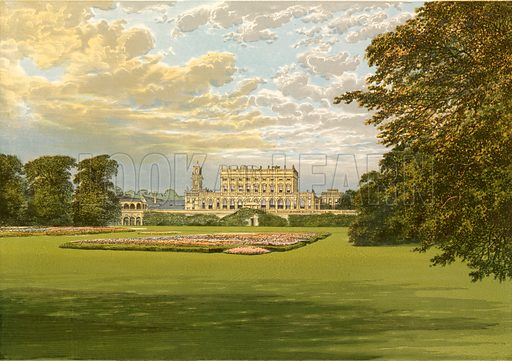 Cliveden. Illustration for Pictureque Views of Seats by F O Morris (William Mackenzie, c 1880).