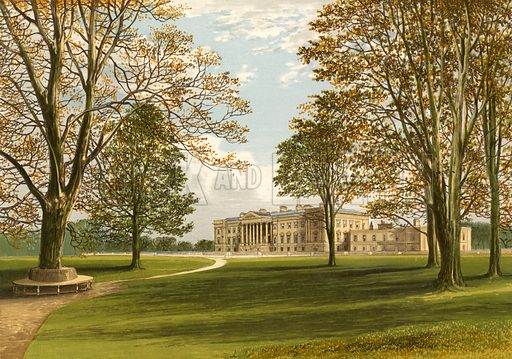 Hamilton Palace. Illustration for Pictureque Views of Seats by FO Morris (William Mackenzie, c 1880).