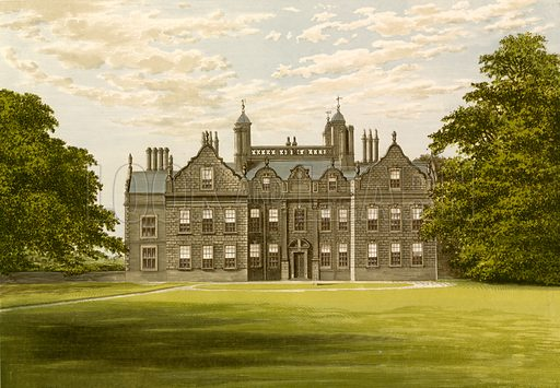 Willesley Hall. Illustration for Pictureque Views of Seats by FO Morris (William Mackenzie, c 1880).