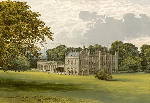 Wycombe Abbey. Illustration for Pictureque Views of Seats by FO Morris (William Mackenzie, c 1880).