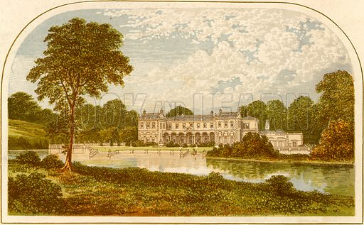 Clumber Park. Illustration for Pictureque Views of Seats by F O Morris (William Mackenzie, c 1880).