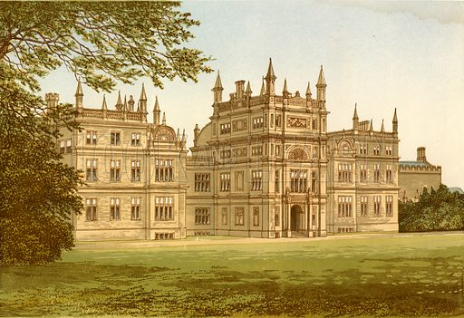 Corsham Court. Illustration for Pictureque Views of Seats by F O Morris (William Mackenzie, c 1880).