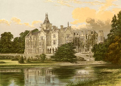 Adare Manor. Illustration for Pictureque Views of Seats by FO Morris (William Mackenzie, c 1880).