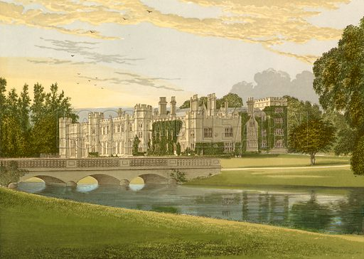 Deene Park. Illustration for Pictureque Views of Seats by FO Morris (William Mackenzie, c 1880).