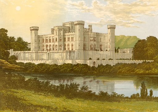 Eastnor Castle. Illustration for Pictureque Views of Seats by F O Morris (William Mackenzie, c 1880).