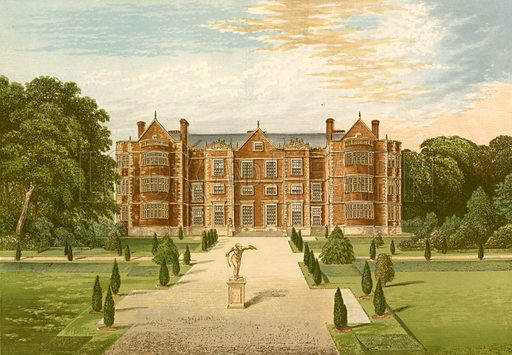 Burton-Agnes Hall. Illustration for Pictureque Views of Seats by F O Morris (William Mackenzie, c 1880).