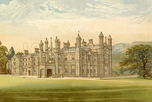 Glanusk Park. Illustration for Pictureque Views of Seats by F O Morris (William Mackenzie, c 1880).
