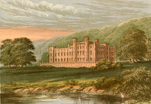 Scone Palace. Illustration for Pictureque Views of Seats by FO Morris (William Mackenzie, c 1880).