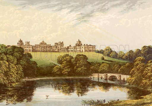 Blenheim. Illustration for Pictureque Views of Seats by F O Morris (William Mackenzie, c 1880).