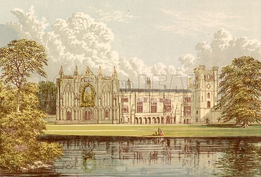 Newstead Abbey. Illustration for Pictureque Views of Seats by F O Morris (William Mackenzie, c 1880).