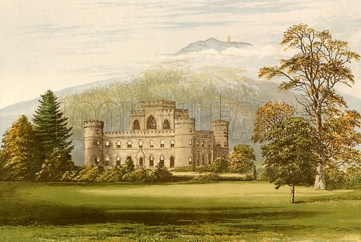 Inveraray Castle. Illustration for Pictureque Views of Seats by FO Morris (William Mackenzie, c 1880).