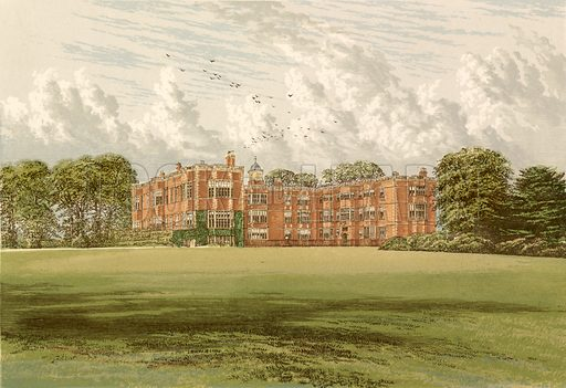 Temple Newsam. Illustration for Pictureque Views of Seats by FO Morris (William Mackenzie, c 1880).