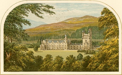 Balmoral. Illustration for Pictureque Views of Seats by FO Morris (William Mackenzie, c 1880).