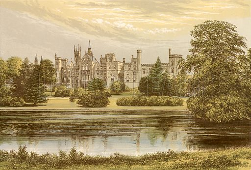 Alton Towers. Illustration for Pictureque Views of Seats by FO Morris (William Mackenzie, c 1880).