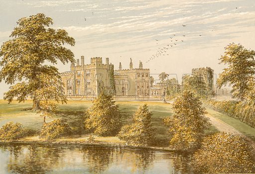 Ripley Castle. Illustration for Pictureque Views of Seats by F O Morris (William Mackenzie, c 1880).