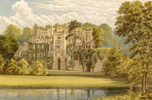 Guy's Cliffe. Illustration for Pictureque Views of Seats by FO Morris (William Mackenzie, c 1880).