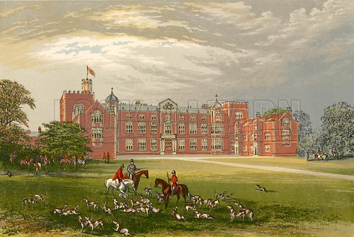 Burton Constable. Illustration for Pictureque Views of Seats by F O Morris (William Mackenzie, c 1880).