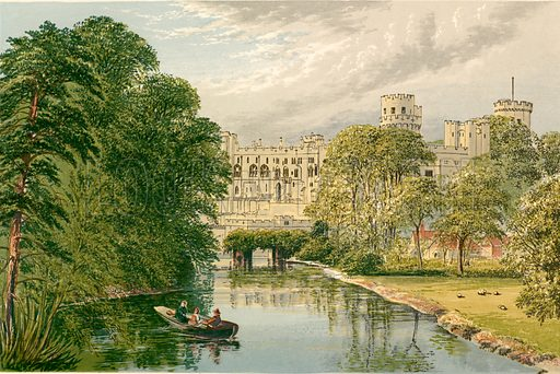 Warwick Castle. Illustration for Pictureque Views of Seats by F O Morris (William Mackenzie, c 1880).
