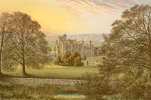 Ilam Hall. Illustration for Pictureque Views of Seats by F O Morris (William Mackenzie, c 1880).