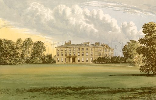Farnham House. Illustration for Pictureque Views of Seats by FO Morris (William Mackenzie, c 1880).