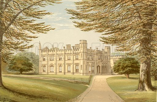 Thrybergh Park. Illustration for Pictureque Views of Seats by FO Morris (William Mackenzie, c 1880).