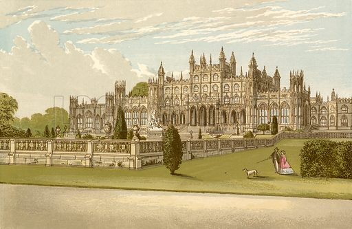 Eaton Hall. Illustration for Pictureque Views of Seats by FO Morris (William Mackenzie, c 1880).