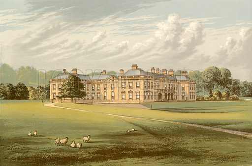 Holme Lacy. Illustration for Pictureque Views of Seats by F O Morris (William Mackenzie, c 1880).