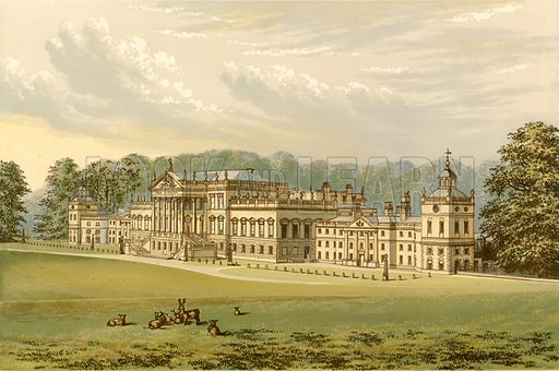 Wentworth Woodhouse. Illustration for Pictureque Views of Seats by FO Morris (William Mackenzie, c 1880).